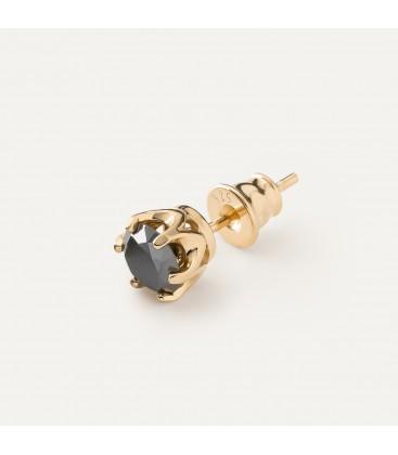 Orecchini da uomo con diamanti artificiali 6 mm 0.90k