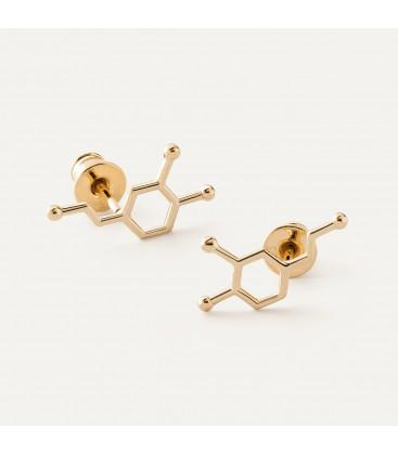 Srebrne kolczyki dopamina wzór chemiczny, srebro 925