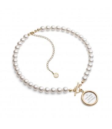 Girocollo di perle con specchi choker argento 925