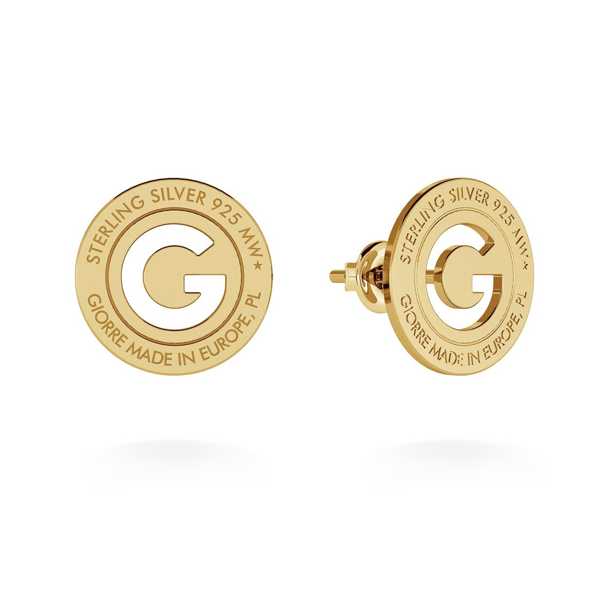 EARRINGS GIORRE BRAND, STERLING SILVER (925) RHODIUM OR GOLD PLATED