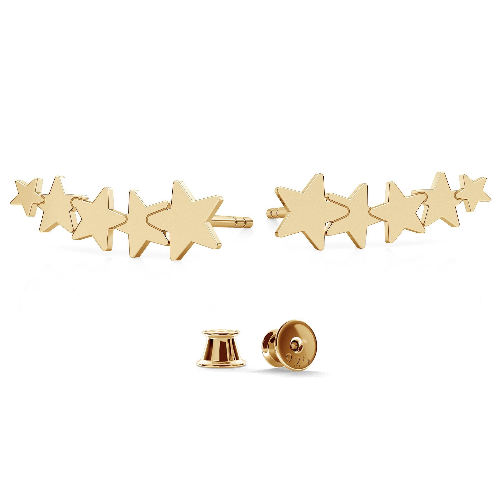 Srebrne kolczyki gwiazdki 925