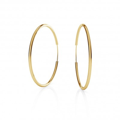 ROUND HOOP EARRINGS 4,0 CM, CHARM BASE