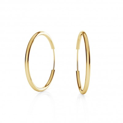 ROUND HOOP EARRINGS 2,5 CM, CHARM BASE