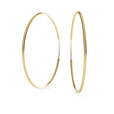 ROUND HOOP EARRINGS 6,5 CM, CHARM BASE