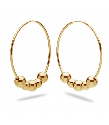 Hoop earrings with balls 925