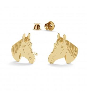 Srebrne kolczyki koń, srebro 925