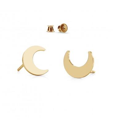 Srebrne kolczyki - księżyc, srebro 925