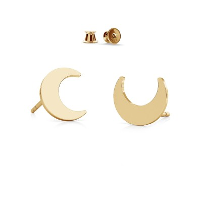 MOON earrings sterling silver 925