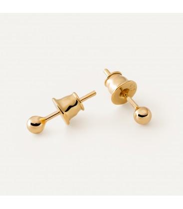 Srebrne kolczyki - kulka 0,3 cm, srebro 925