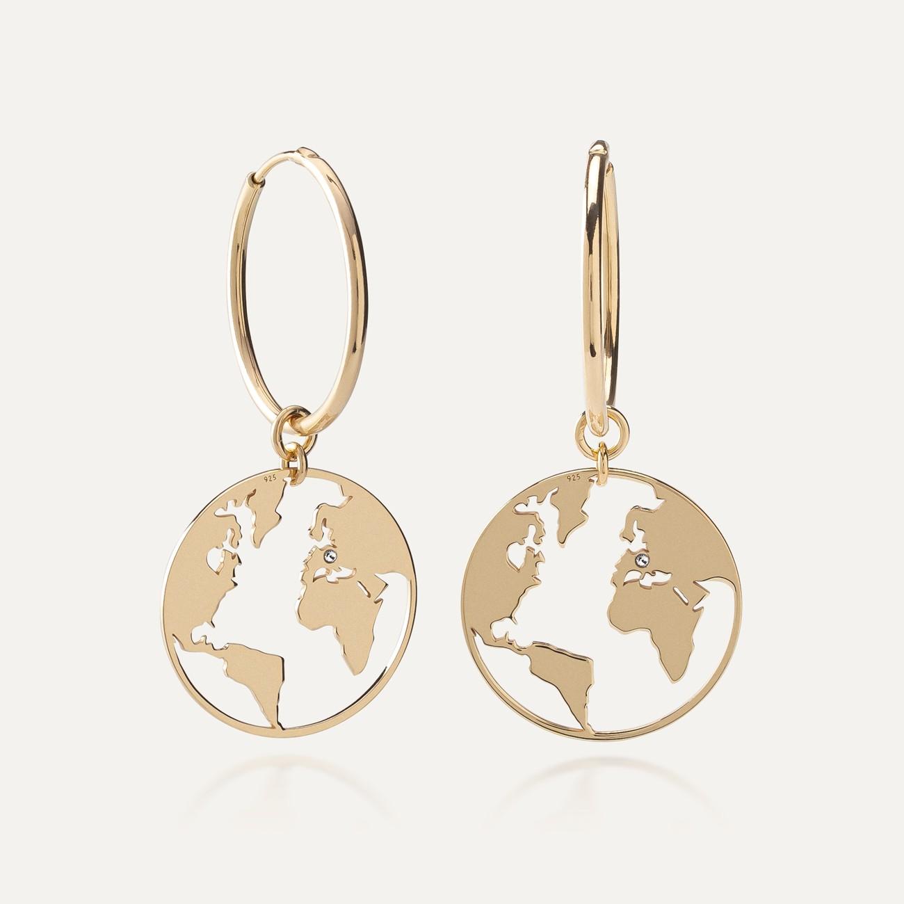Cross hoop earrings sterling silver 925