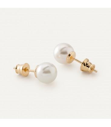 Srebrne kolczyki perła Swarovski 925, srebro 925
