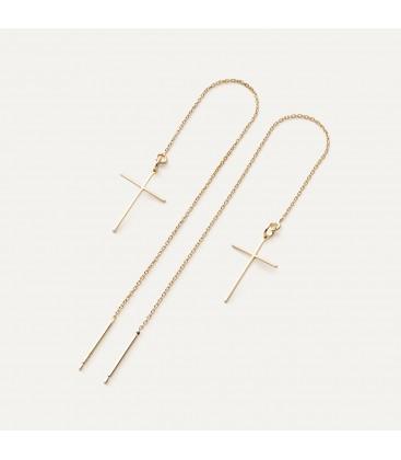 CROSS chain earrings sterling silver 925
