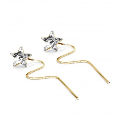 STAR CHAIN EARRING