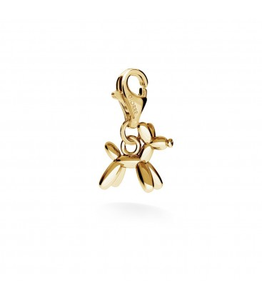 Balloon dog charms pendant bead sterling silver