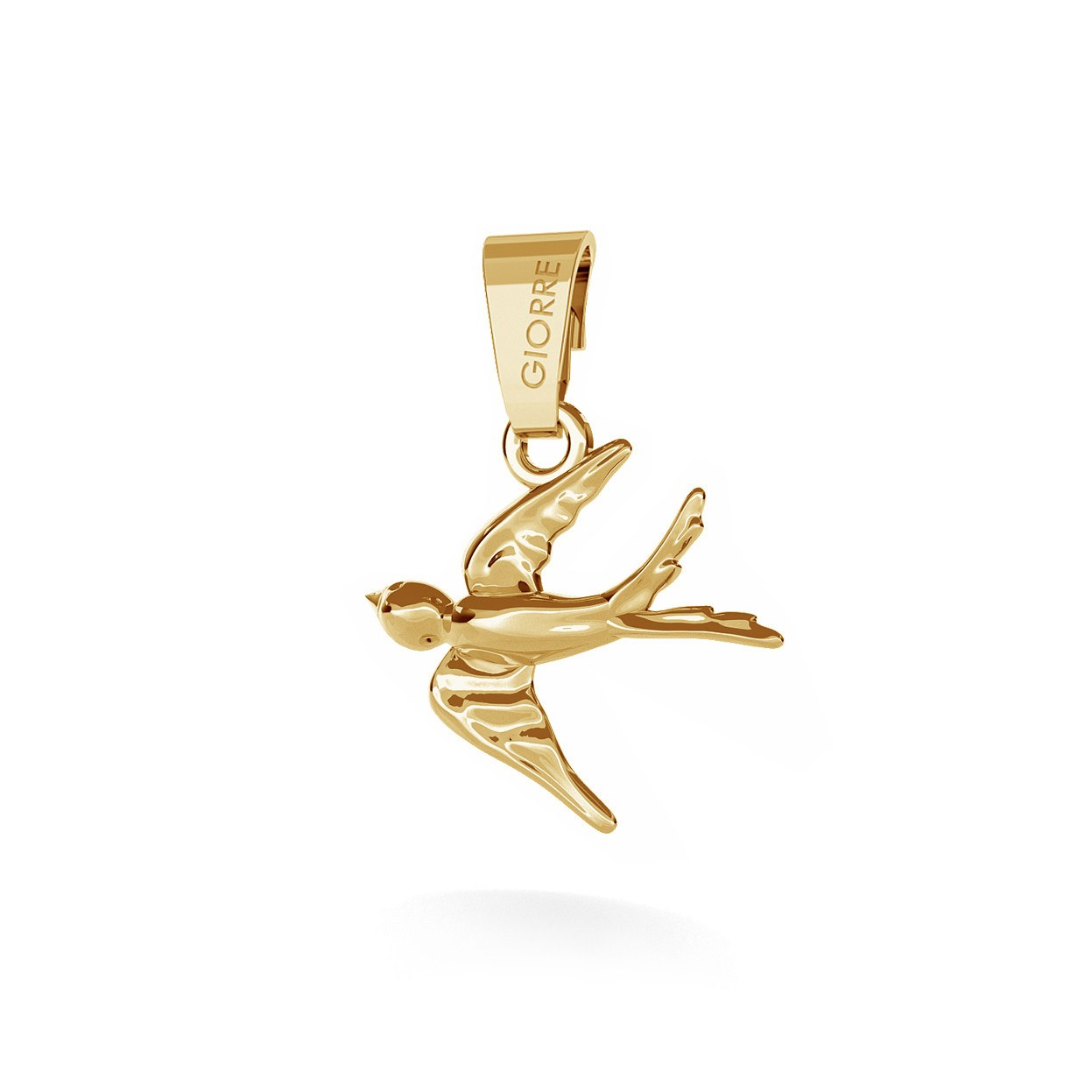 CHARM 41, SWALLOW, SILVER 925, RHODIUM OR GOLD PLATED