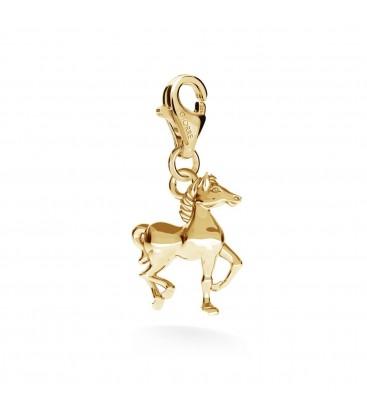 Srebrny charms beads zawieszka koń, srebro 925