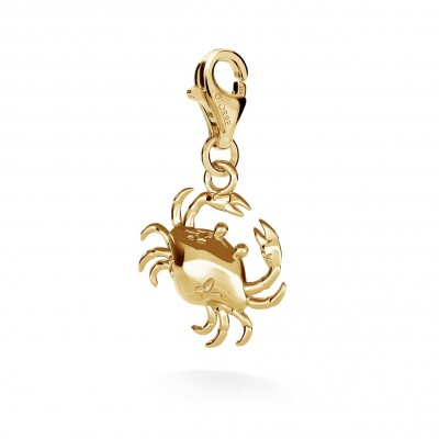 CHARM 34, CRAB, SILVER 925, RHODIUM OR GOLD PLATED