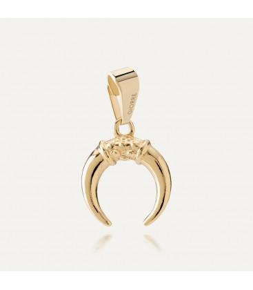 Srebrny charms beads zawieszka półksiężyc rogi, srebro 925