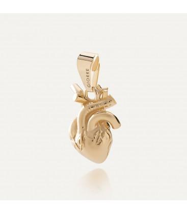Corazón humano colgante plata 925