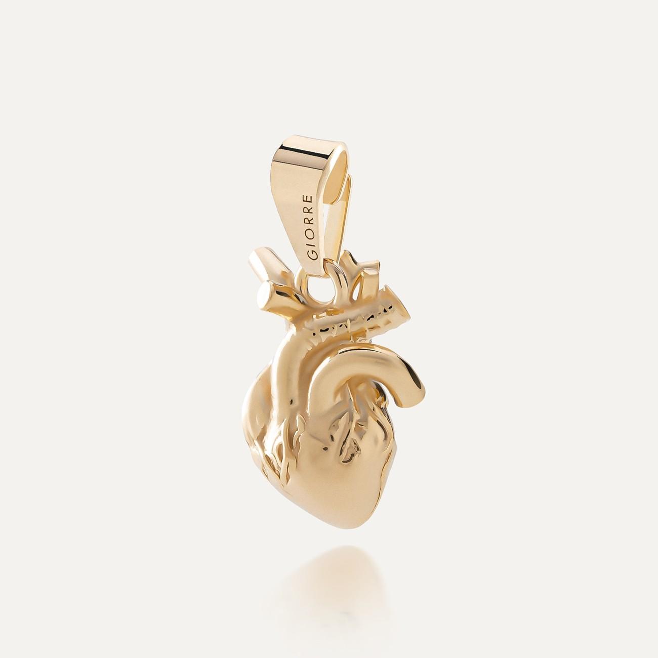 Srebrny charms beads zawieszka serce anatomiczne, srebro 925