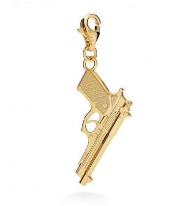 Srebrny charms duży pistolet beretta, srebro 925