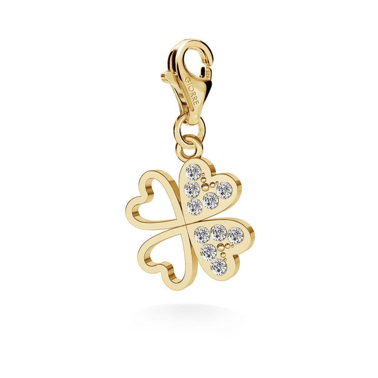 CLOVER WITH SWAROVSKI CRYSTALS, CHARMS 227