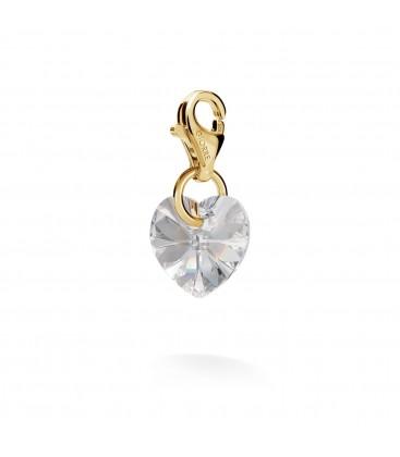Srebrny charms kryształ serce Swarovski, srebro 925