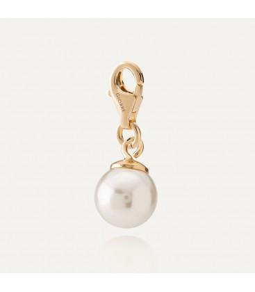 Srebrny charms perła Swarovski, srebro 925
