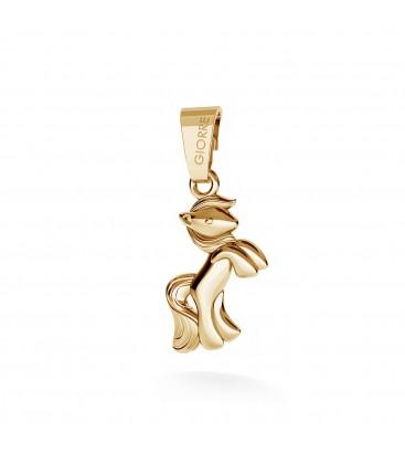 Srebrny charms zawieszka beads kucyk, srebro 925