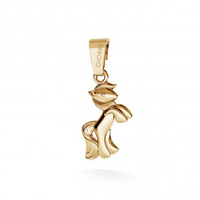 CHARM 75, PONY, SILVER 925, RHODIUM OR GOLD PLATED
