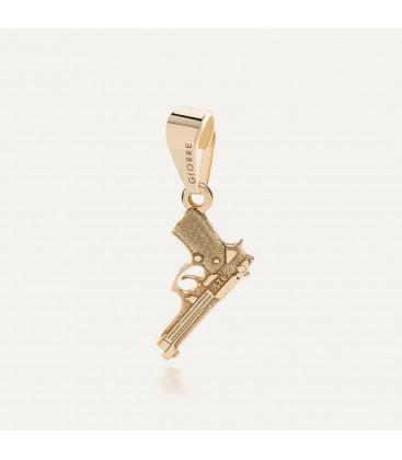 Srebrny charms zawieszka beads pistolet beretta, srebro 925