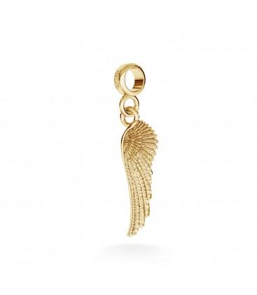 Srebrny charms zawieszka beads skrzydło anioła, srebro 925
