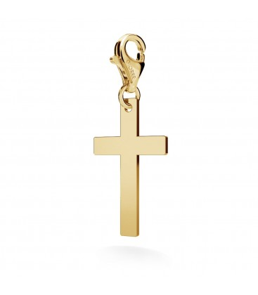 Cross charms pendant bead sterling silver