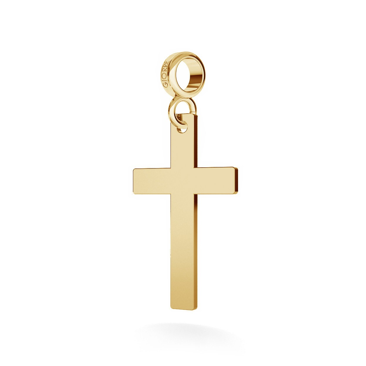 CHARM 27, CROSS, SILVER 925, RHODIUM OR GOLD PLATED
