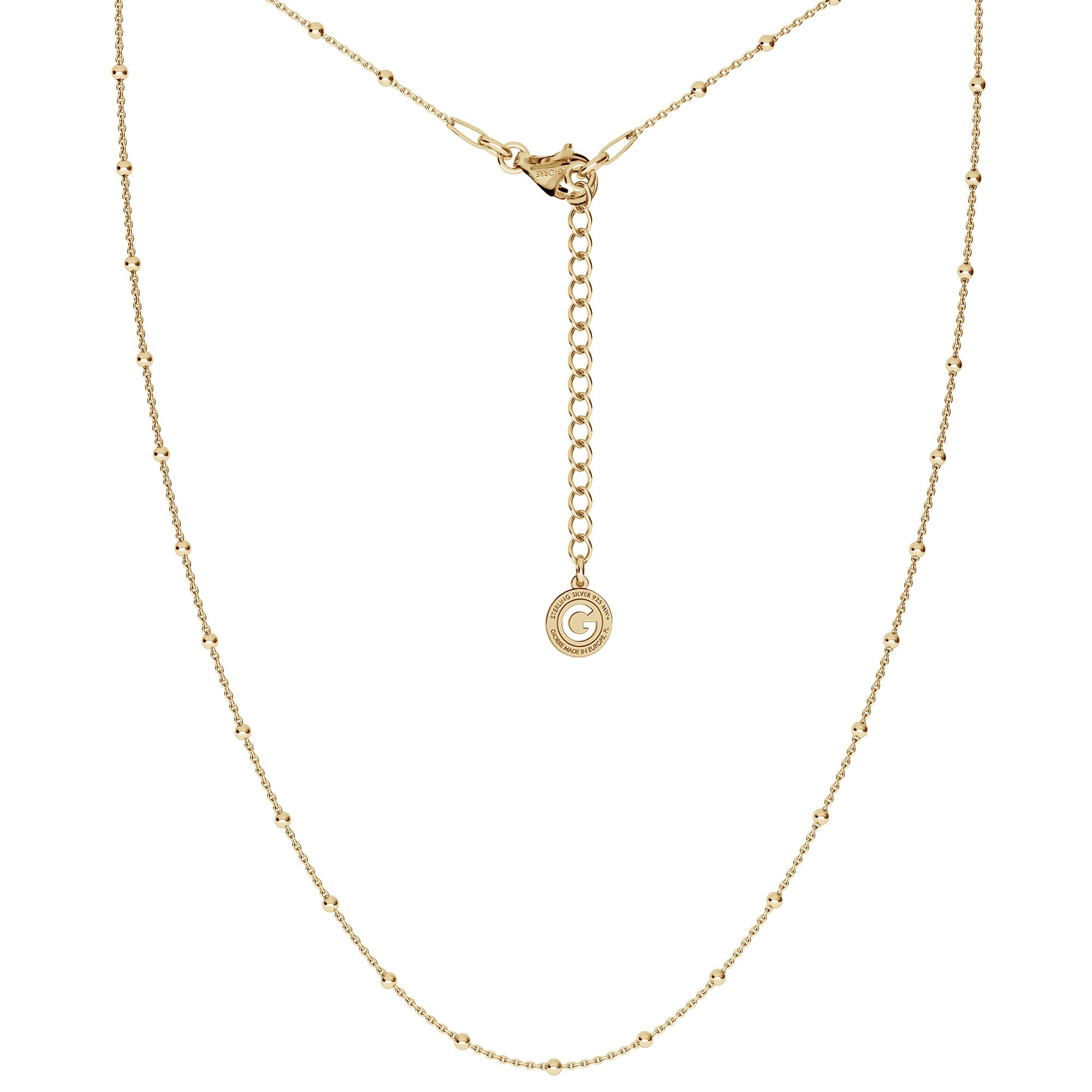 LIGHT SILVER NECKLACE 45-55 CM, RHODIUM PLATED