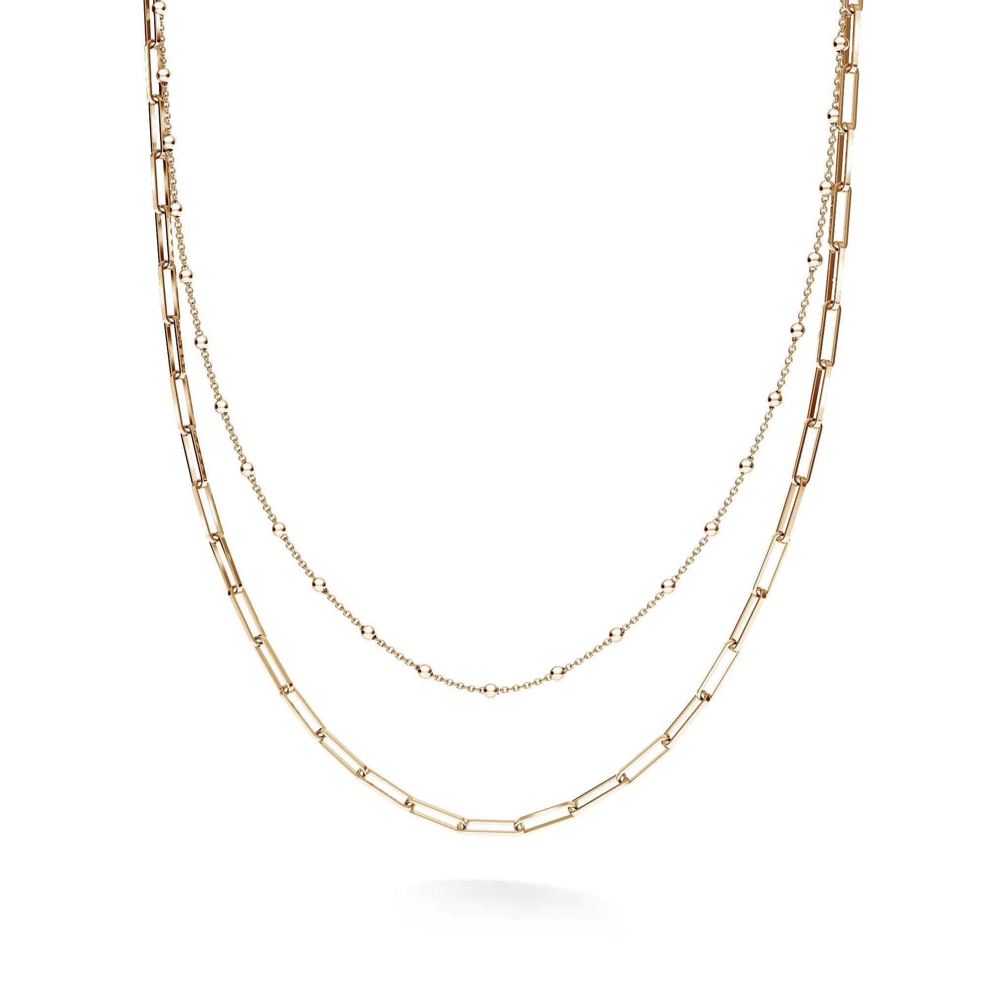 Srebrny łańcuszek kulkowy do wpinania charmsów, srebro 925