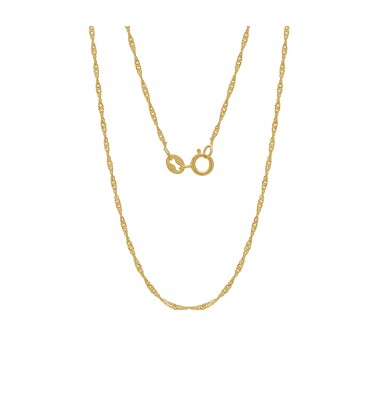 Srebrny łańcuszek skręcany singapur, srebro 925