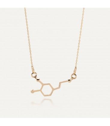 Srebrny naszyjnik dopamina, wzór chemiczny, srebro 925