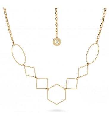 Geométrico collar collar plata 925