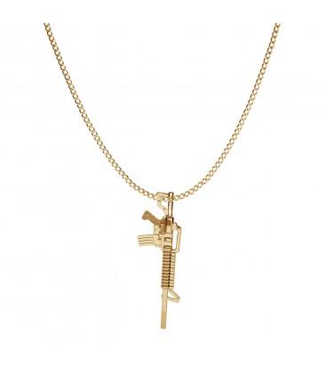 Ametralladora collar plata 925