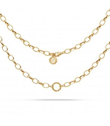 Sterling silver choker necklace karma