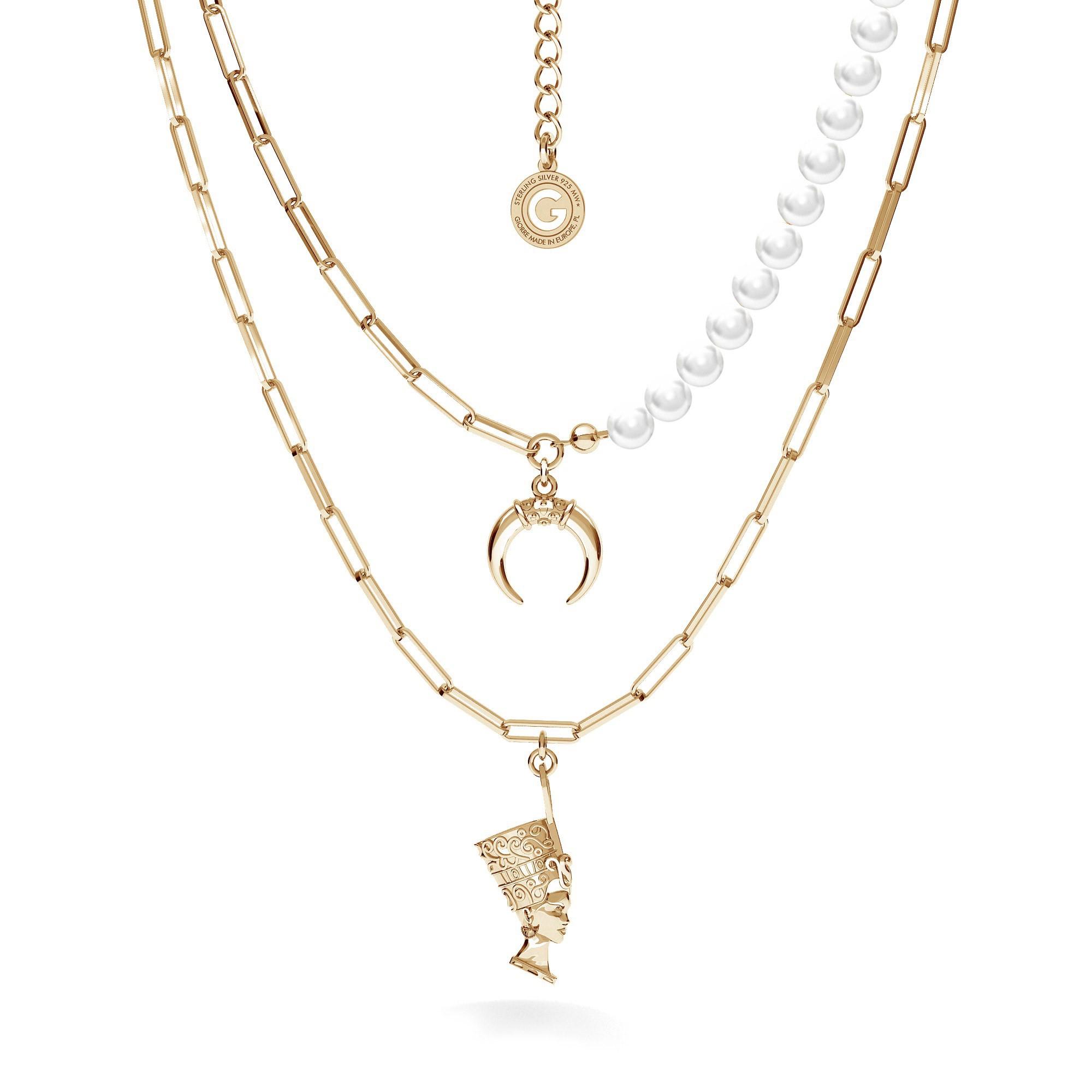 Srebrny naszyjnik Kleopatra, srebro 925