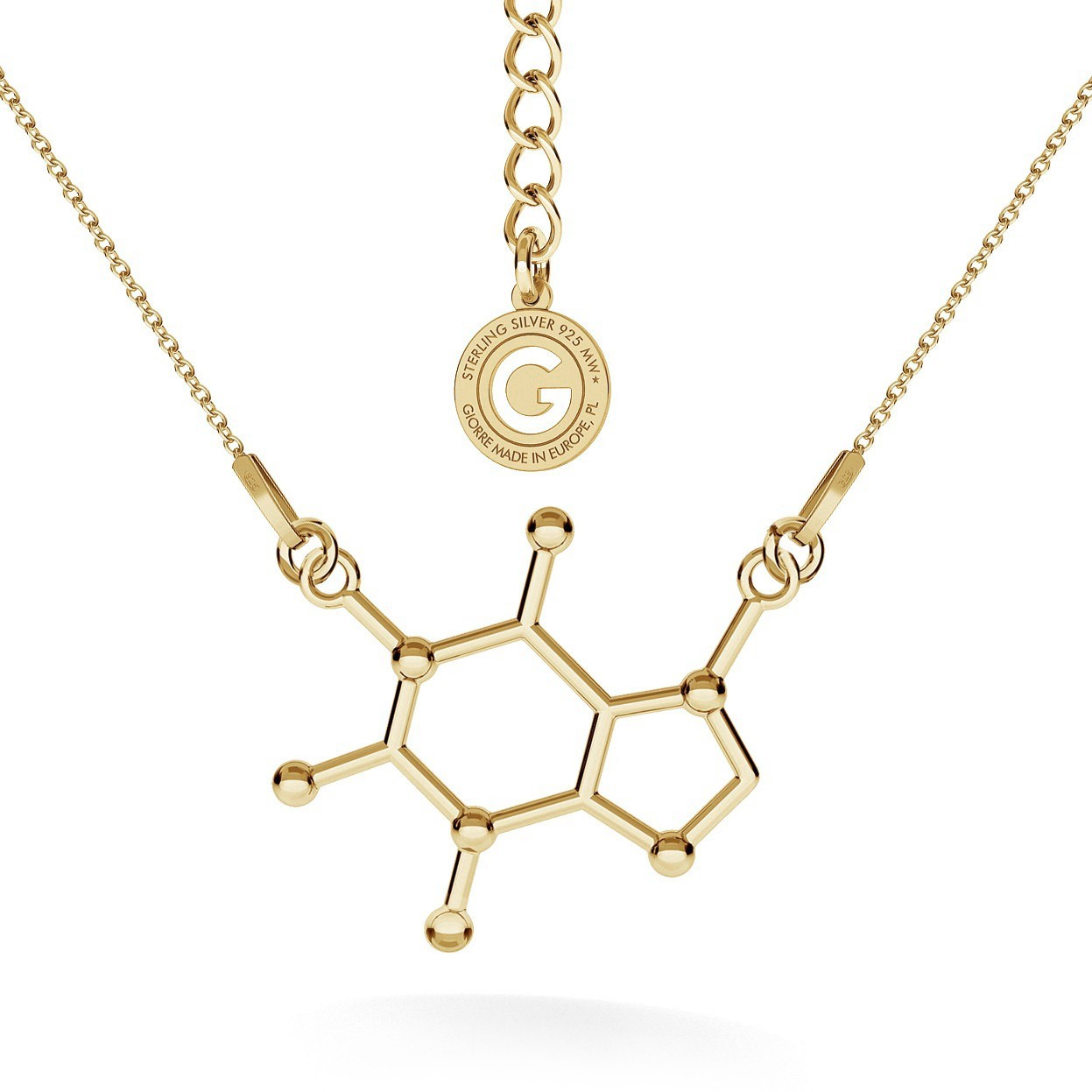 Necklace CAFFEINE chemical formula