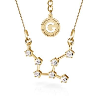 VIRGO zodiac sign necklace with Swarovski Crystals silver 925