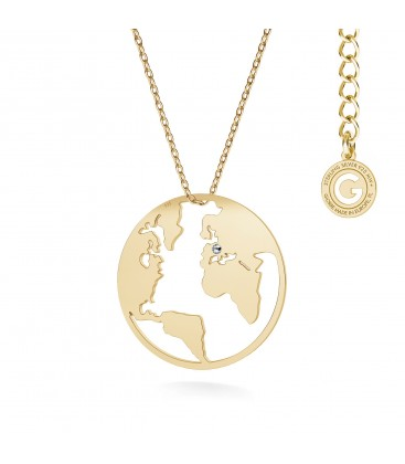 Mappa del mondo collana argento 925
