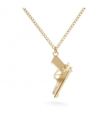 Beretta gun necklace 925