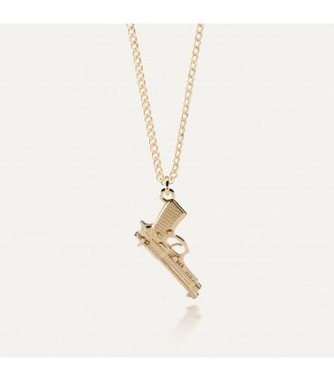Srebrny naszyjnik pistolet duża beretta 925
