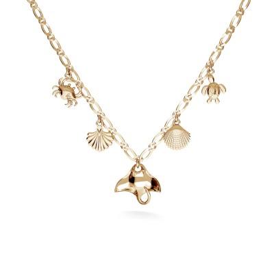 Shell & seastar necklace, MON DÉFI, Silver 925