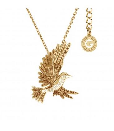 Srebrny naszyjnik ptak koliber, srebro 925