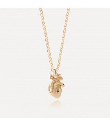 Corazon humano collar plata 925